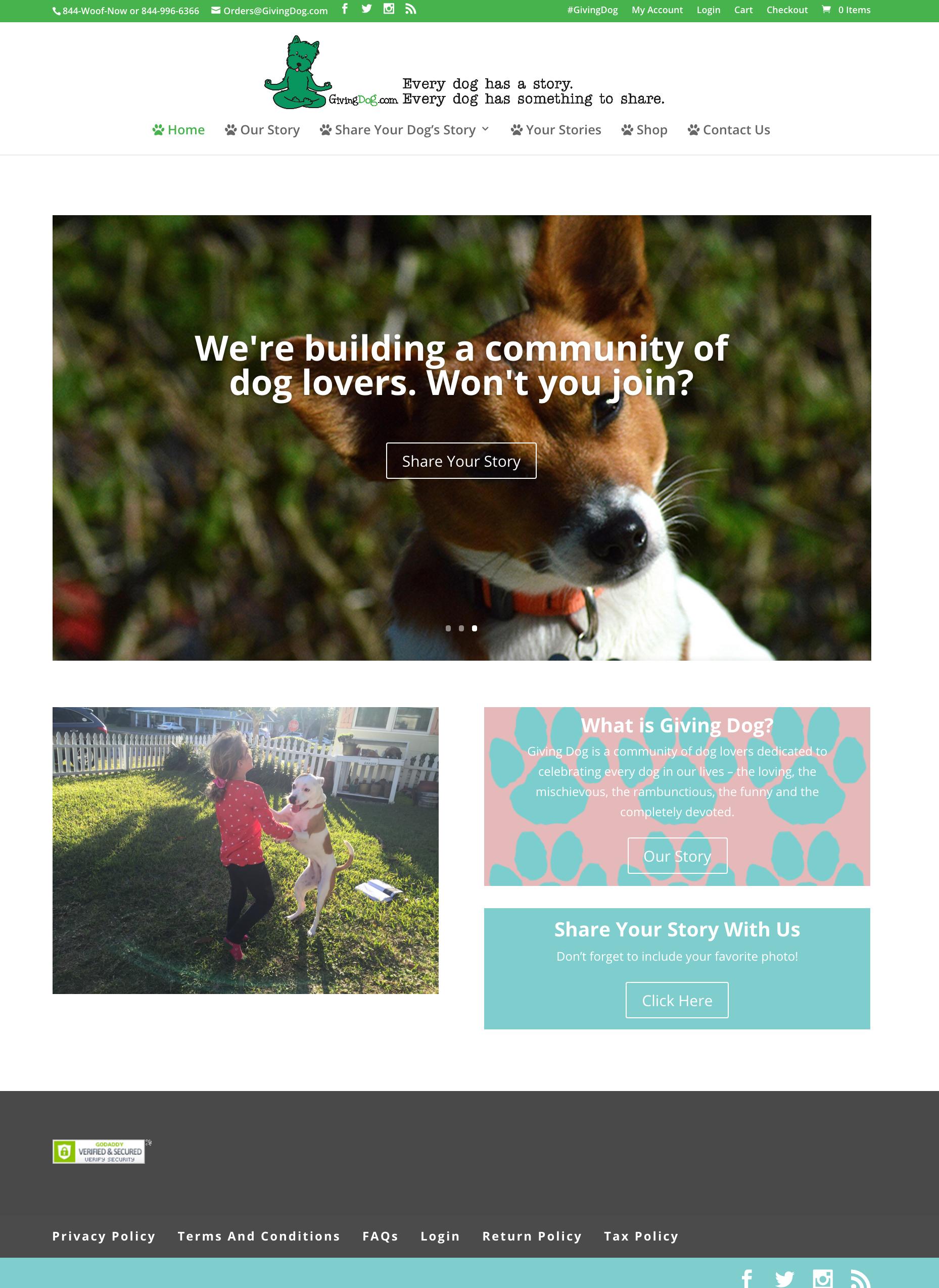 GD web design Screenshot